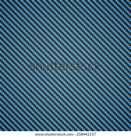 Carbon Kevlar blue - stock vector