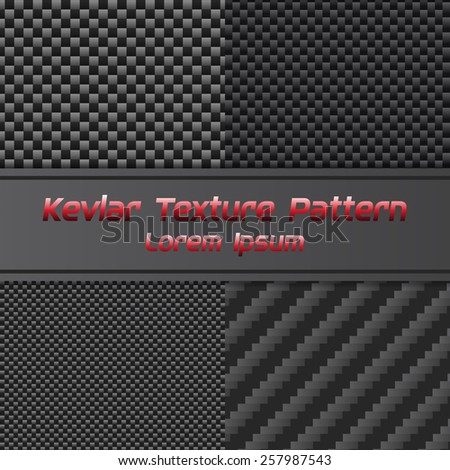 Carbon kevlar Texture Pattern. Vector Illustration - stock vector