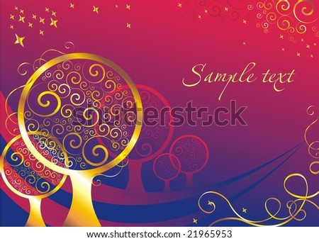card abstract 2 - stock vector