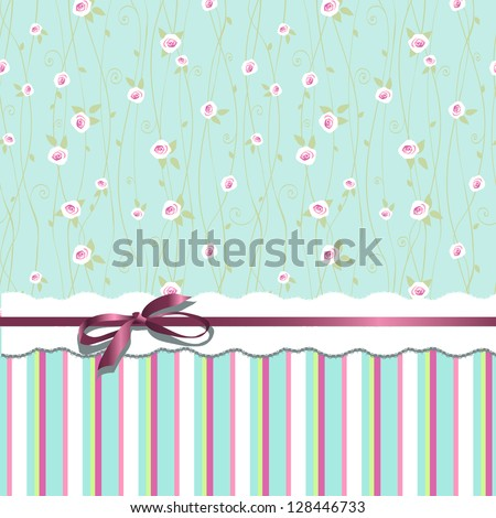 Card design. Digital scrap-booking. - stock vector