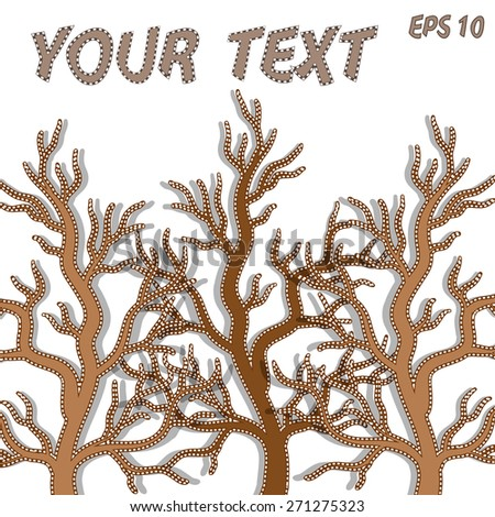 Card design with stylized  tree  - stock vector