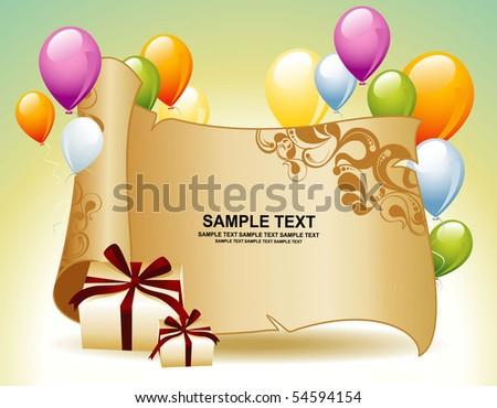 Card for congratulations - stock vector