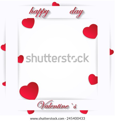 Card for Valentine's Day on a White Background. Vector illustration - stock vector
