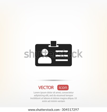 card id icon. One of set web icons - stock vector