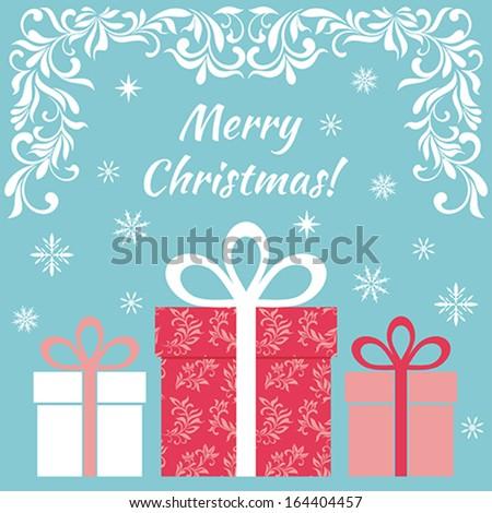 Card - Merry Christmas! - stock vector