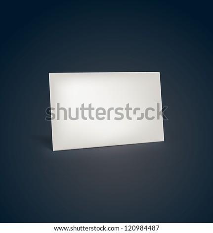 Card Name. Vector - stock vector