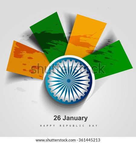 Card of India Republic Day creative design - stock vector