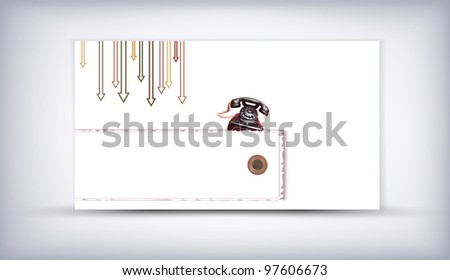 Card of old phone speaking background vector - stock vector