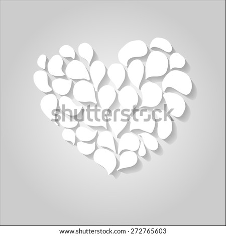 Card with floral heart - stock vector