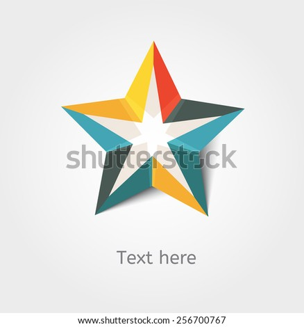 Card with star and place for text - stock vector