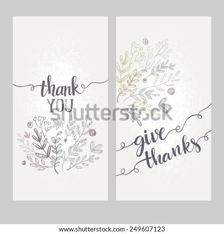 Card with the words thank you - stock vector