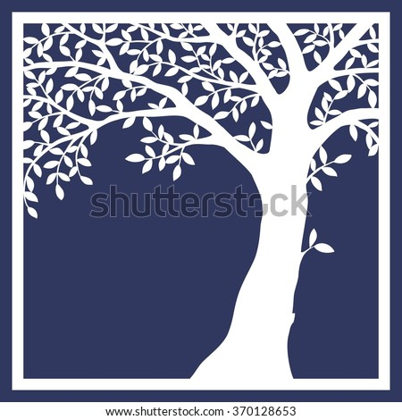 card with tree  - stock vector