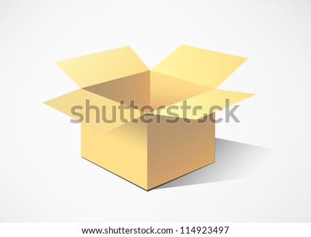 Cardboard boxes. vector illustration - stock vector