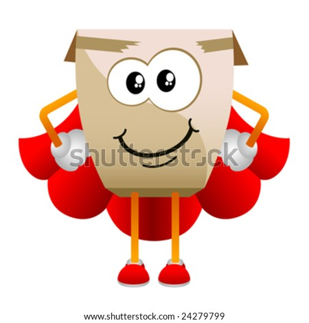 cardboard cartoon character vector 2 - stock vector