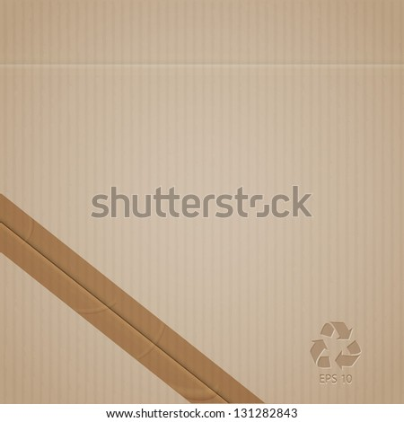Cardboard. Vector EPS10 - stock vector