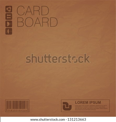 Cardboard vector texture - stock vector