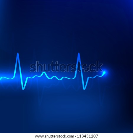 Cardiogram background. EPS 10. - stock vector