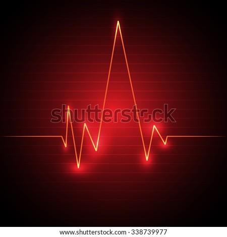 Cardiogram background. EPS 10. - stock vector