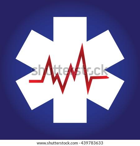 Cardiogram design elements. Cardiogram lines of healthy heart. Vector Illustration heart rhythm ekg .vector - stock vector