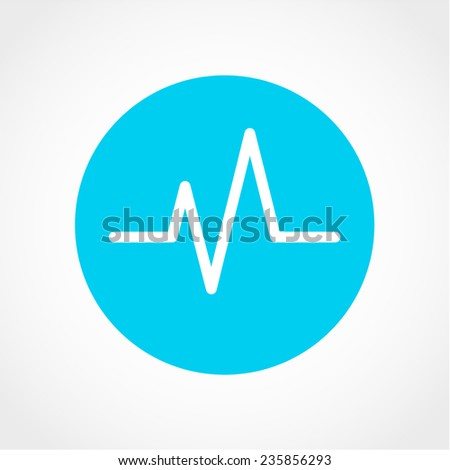 Cardiogram Icon Isolated on White Background - stock vector