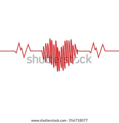 cardiogram of love. Heart Icon Vector. Heart Icon JPEG. Heart Icon Object. Heart Icon Picture. Heart Icon Image. Heart Icon Graphic. Heart Icon Art. Heart Icon JPG. Heart Icon EPS. Heart Icon AI. - stock vector
