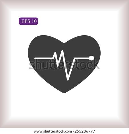 cardiogram vector icon - stock vector