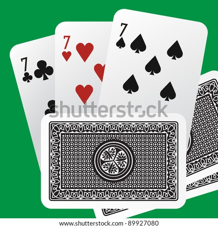 cards - stock vector