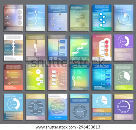 Cards and templates for business reports - stock vector