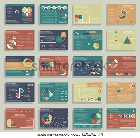 Cards design and infographics for business data visualization, t - stock vector