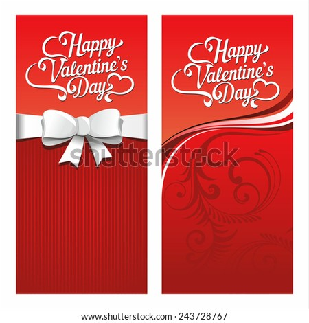 Cards for Valentine's Day - stock vector