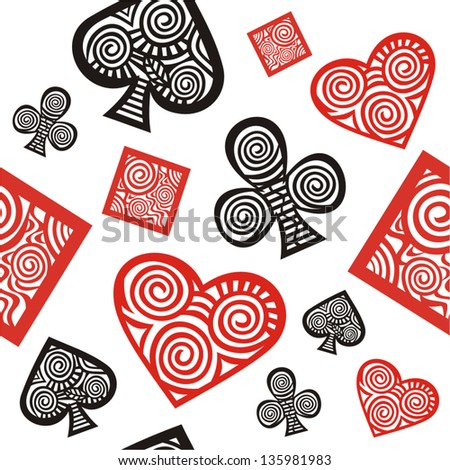 Cards pattern seamless background - stock vector