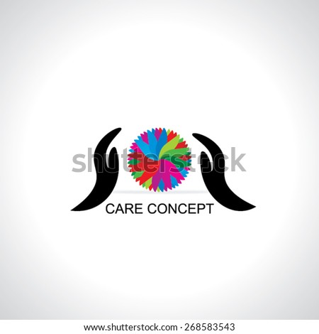 care concept with colorful abstract  - stock vector