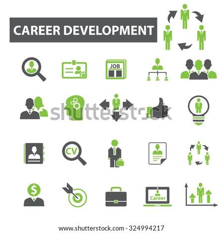 career development, job icons - stock vector