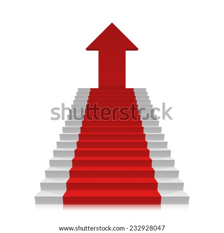 Career ladder to the top. Vector illustration - stock vector