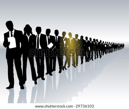 career - one among many - stock vector