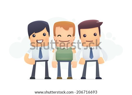careful attention to the client. conceptual illustration - stock vector