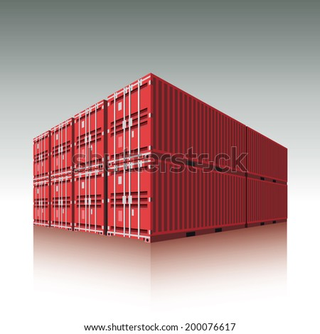 Cargo containers. Vector illustration - stock vector