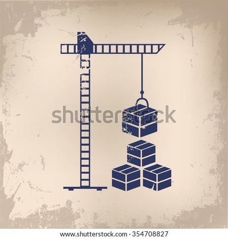 Cargo, shipping design on old paper background, vector - stock vector