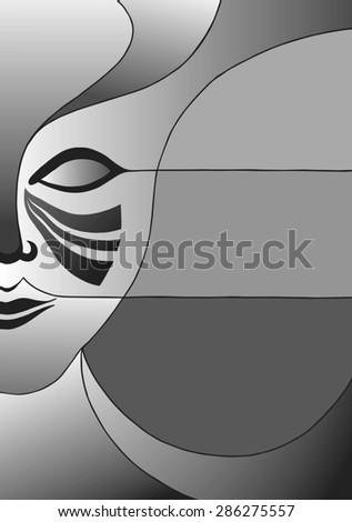 Carnival mask design. It can be used as poster, invitation, background or anything else. Editable format. - stock vector