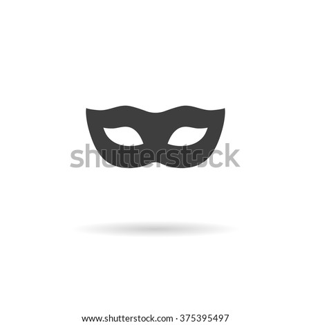 Carnival mask Icon. - stock vector