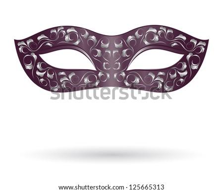 Carnival mask in black - stock vector