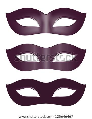 Carnival masks in black - stock vector
