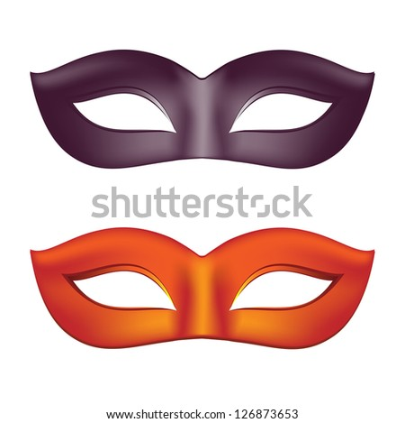 Carnival masks in black and red - stock vector