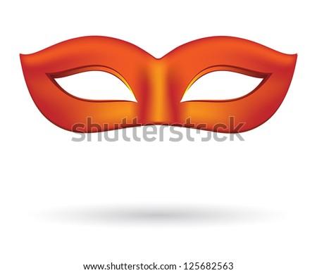 Carnival masks in red - stock vector