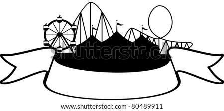Carnival Silhouette Vector Carnival Scene Silhouette With