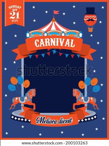 carousel/carnival template vector/illustration - stock vector