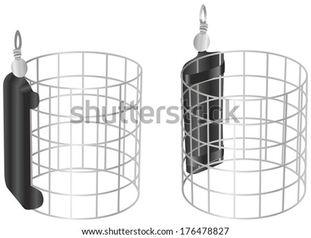 Carp fishing feeder - stock vector