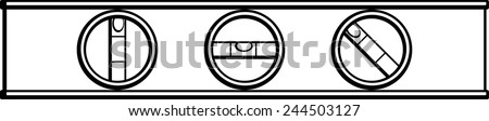 carpenter level - stock vector