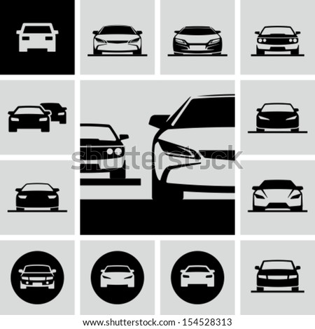 Cars icons - stock vector