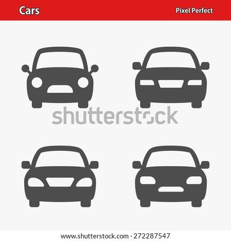 Cars Icons. Professional, pixel perfect icons optimized for both large and small resolutions. EPS 8 format. - stock vector